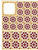 2 sheets red hearts decoupage sheets, ideal for arts and crafts, card, invitations, framing, dolls houses and lots more etc