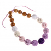 Loair Teething Nursing Breastfeeding Chewable Necklace - Wood Beads Baby Chew Jewellery Teether Toy
