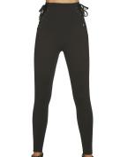 Bas Bleu Sansa Women's Push-Up Leggings High Waist Smooth - Made In EU, Black,XXL
