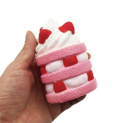 Strawberry Ice Cream Squishy Toy,Mamum Strawberry Cake Scented Squishy Slow Rising Squeeze Toys Jumbo Collection