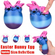 Slow Rising Toys,Native99 15cm Easter Eggs Shell Rabbit Decompression Toy Scented Easter Gift