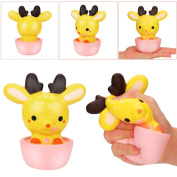 Slow Rising Toys,Native99 Cute Cup Dear Scented Cream Squishy Toys Cure Gift
