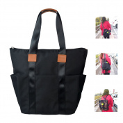 HoHope Baby Changing Bag Nappy Tote Convertible Backpack Black
