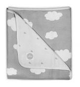 Jollein 521 530ml 65057 Absorbent Blanket 75 x 100 cm Clouds Grey