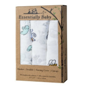 Bamboo Baby Swaddle Receiving Blankets – Super Soft and Cool- Keep Infant Safe with Natural Anti-Bacterial Breathable Bamboo Muslin! Easy Care , Baby Shower Gift