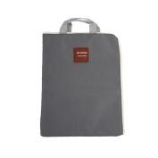 Kicode Zippered Portable Canvas File Pocket For A4 Paper Documents Laptop Holder Bag Grey