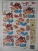 5 x Decoupage Kit Time for Tea 'Sweet Treats' Cardmaking Scrapbooking Crafts AM586