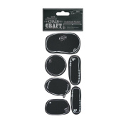Papermania Chalk Craft - Black Chalkboard Stickers (24pcs) - To & From