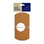 Papermania Bare Basics Craft - Brown Kraft Gift Pillow Boxes (3pcs) + Tags