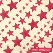 Ideal Home Range 20-Count Emma Bridgewater Paper Cocktail Napkins, Red Starry Skies