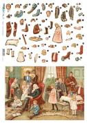 Accademia del Decoupage 32 x 45 cm Treddi Paper, Family Holiday