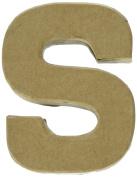 Craft Ped Paper Mache 10cm Letter S Kraft, 4