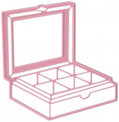 Joy Craft Cutting and Embossing Stencil, Afternoon Tea Box