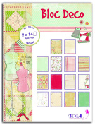 Toga PB83 Miss Couture of 28 sheets Rainbow Printed Paper 15 x 20 x 0.5 cm