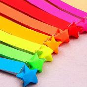 JETTINGBUY Origami Lucky Star Material Folding Rainbow Ribbons Paper Scrip/Tape 80 Pcs