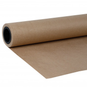 LaRibbons 122cm x 30M Natural / Brown Kraft Wrap Paper Roll 80gsm - 30 METRES