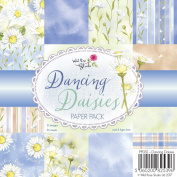 Wild Rose Studio Dancing Daisies Patterned, Paper, Multi-Colour, 0.5 x 15.5 x 15.5 cm