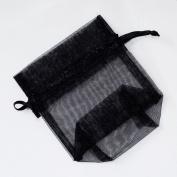 Forever Yung Organza Favour Bags - 7.6cm x 10cm - Black Colour - 120 Bags