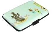 SUxian Owl Business ID Credit Card Case Holder Blocking Box Aluminium Wallets