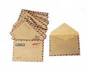 SUxian Ten Pcs/set Retro Mini Paper Greeting Card Envelope Birthday Creative Card