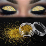 Women's Glitter Loose Eyeshadow, Iuhan Sparkly Makeup Glitter Loose Powder EyeShadow Gold Eye Shadow Pigment