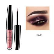 Highpot Glitter Liquid Eyeshadow & Eyeliner 16 Colours, Metallic Shiny Smoky Eyes Eyeshadow, Waterproof Sparkling Eyeliner