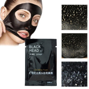 Amiley Blackhead Remover Pore Control Skin Cleansing Purifying Bamboo Charcoal, Peel Off Facial Black Mask, Peel Activated Black Mud Oily Skin peel-off Deep cleaning mask Acne Facial cleansing