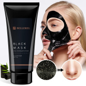 Bellerel Blackhead Remover Black Mask Purifying peel off mask with Activated Charcoal, Anti-ageing and whitening mask
