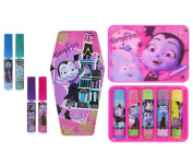 Mozlly Value Pack - Townley Girl Disney Jr Vampirina Lip Balm Set (6pc Set) AND Lip Gloss Set with Coffin Carrying Case (5pc Set) - Novelty Character Beauty Accessories