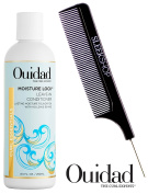 Ouidad MOISTURE LOCK Leave-In Conditioner (with Sleek Steel Pin Tail Comb)