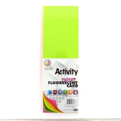 Double Sided 1.2m x 3.7m Fluorescent Card, 150gsm Colours, 50 Sheets, Size 101mm x 305mm