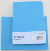Craft UK C6 pack of 10 Spring colours Easter Craft Cards and Envelopes - Bright Blue