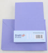 Craft UK C6 pack of 10 Spring colours Easter Craft Cards and Envelopes -Plover Purple
