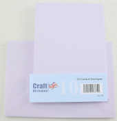 Craft UK C6 pack of 10 Spring colours Easter Craft Cards and Envelopes - Lilac