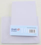 Craft UK C6 pack of 10 Spring colours Easter Craft Cards and Envelopes - Skylark Purple