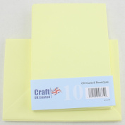 Craft UK C6 pack of 10 Spring colours Easter Craft Cards and Envelopes - Bunting Yellow