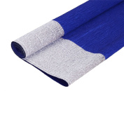 KRAFTZ® - Blue and Silver Double Shade Crepe Paper Roll Top Quality 50cm wide X 2.5m long for Art & Craft, Decoration, Party Decor