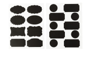 2 SHEETS CHALKBOARD STICKERS, BLACK, TAGS BIRTHDAY, CARDMAKING CRAFTING, EMBELLISHMENTS 28527