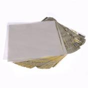 HuntGold 100Pcs/Set Square Imitation Gold Leaf Cover Foil Paper DIY Gilding Art Craft Gift Wrapping Paper 16*16cm