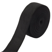 Black Knit Elastic Spool - 11 Yard Length 3.8cm Wide Sewing Stretchy High Elasticity for Crafts, Clothes, Waistband