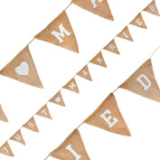 Oaktree 631571 Just Married Natural Hessian Wedding Bunting 3.2 Metres