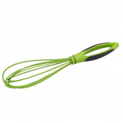 Gluckliy Mini Manual Whisk Silicone Whisk Egg Beater Kitchen Cooking Tools with Plastic Handle