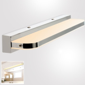 MUMENG 7W 420mm 770 LM LED mirror lamp bath lamp wall lamp stainless steel acrylic Warm White