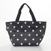 Eco Chic Expandable Cool Bag, Black And White Polka Dot