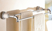 TACCY Double Towel Bar Brass Made with Polished Chrome Finish #MK01C
