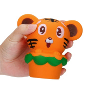 Squishy Squeeze Toy Jumbo Hamburger Tiger Mini Mochi Kawaii Healing Fun Charm Cream Scented Slow Rising Adult Stress Reliever Depression Toy Kids Gift