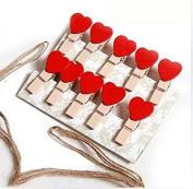 Love creative wooden small clip, cute peach red photos folder, photo folder 10