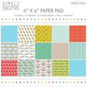 Premium Craft Paperstock Simply Creative Fiesta Fun 15cm x 15cm Scrapbook Papers