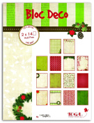 Toga PB76 It's Christmas Day of 28 sheets Rainbow Printed Paper 15 x 20 x 0.5 cm