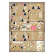 Papermania Geometric Paper Kraft Capsule Collectecion Scrapbook Set